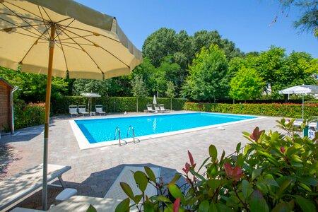 Diagonal view of the swimming pool