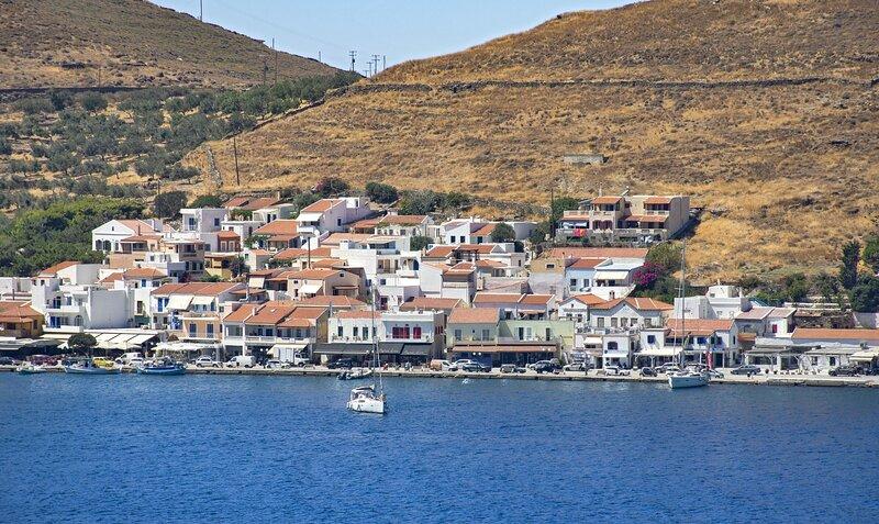 Korissia, the port of Kea