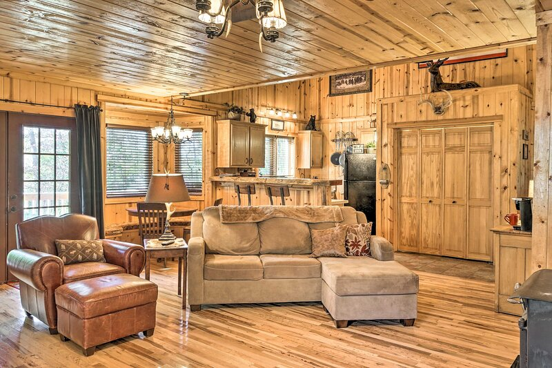 Cabin on Table Rock Lake w/ Hot Tub & Fire Pit!, casa vacanza a Ridgedale