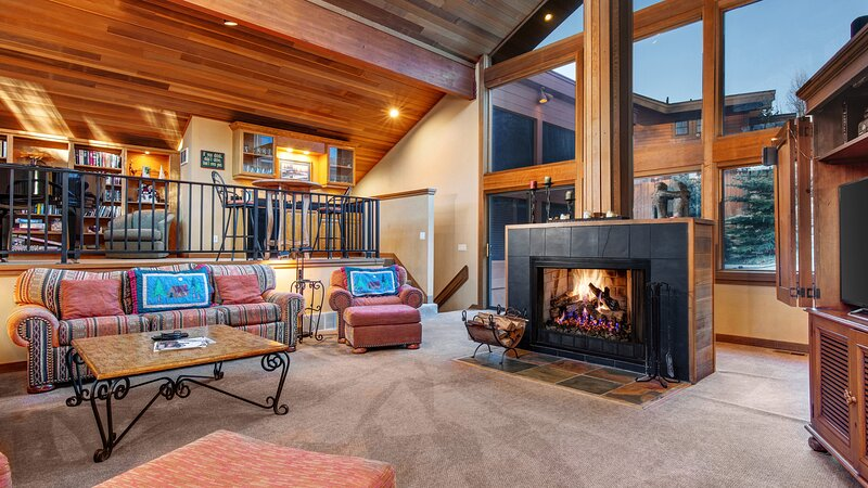 Cozy Living Room with Fireplace