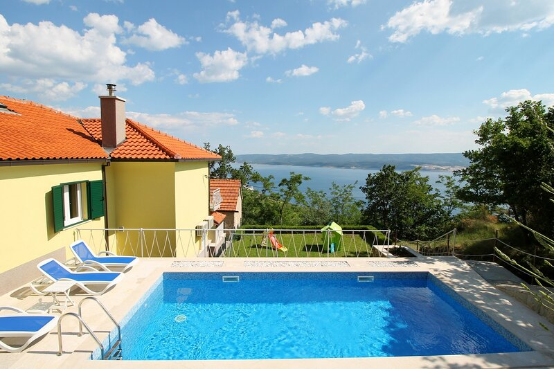 Villa Maruncela with private 24m2 pool and spectacular sea and island views