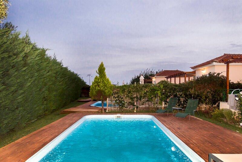 Artemis, villa with pool 250m to the beach, location de vacances à Finiki