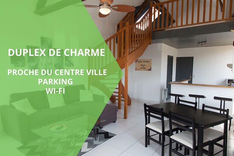 N°1-DUPLEX DE CHARME , plus belle vues d'Auxerre, vacation rental in Pontigny