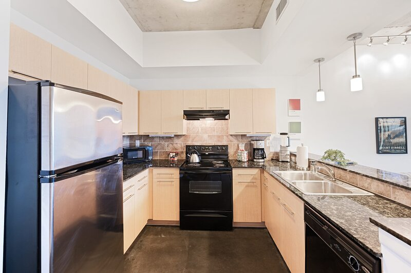 Fully equipped kitchen so you can cook (or not!)