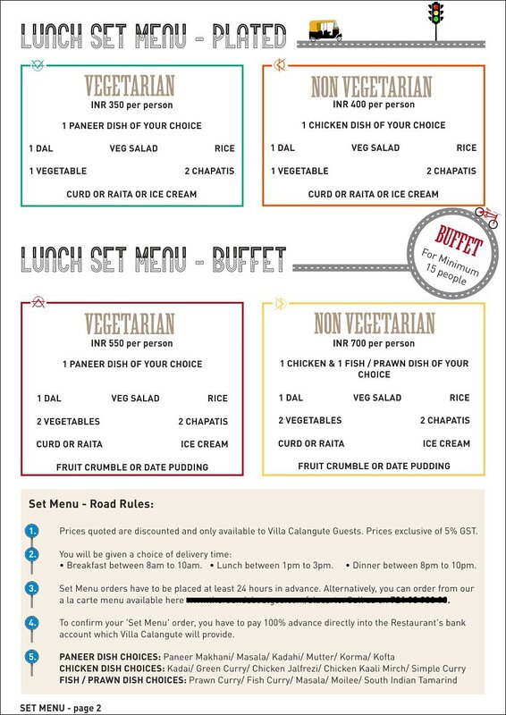RoundAbout Restaurant's Lunch set menu