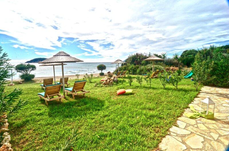Beachfront Elena Villa with mini pool and spa, holiday rental in Vasilikos