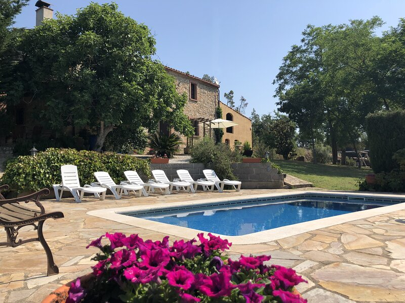 Costabravapartment Can Marc with private pool and tennis court, Ferienwohnung in Arbucies