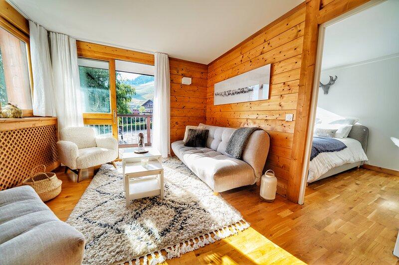 Magnifique appartement 3 Chambres !, alquiler vacacional en Megève