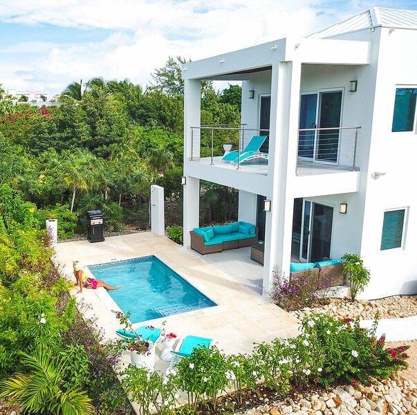 Modern Beach Villa | 250 yards from Grace Bay Beach | Sleeps 4 | Private pool, location de vacances à The Bight Settlement