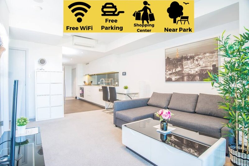 Minimalism modern 2beds APT*waterview*parkingColes, holiday rental in Rosehill
