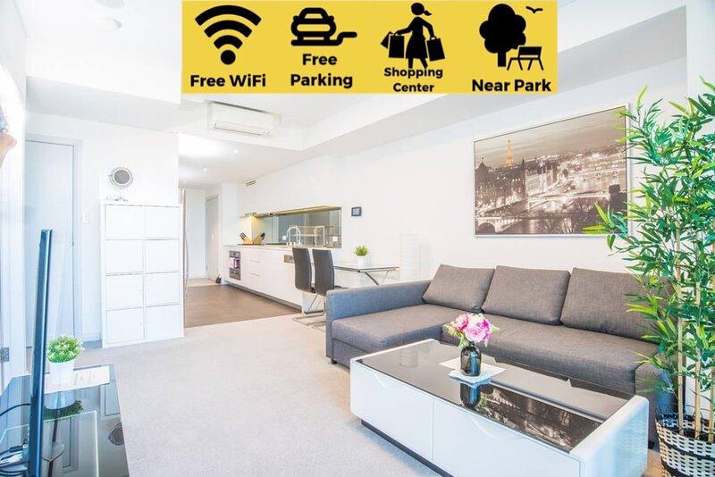Minimalism modern 2beds APT*waterview*parkingColes, location de vacances à Strathfield