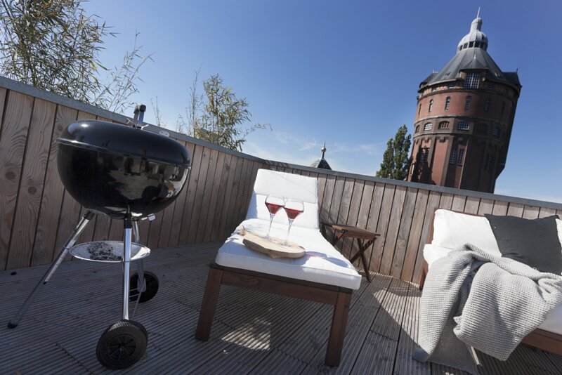Rooftop 31 - Beautiful one bedroom loft apartment with rooftopterrace, holiday rental in Steendam