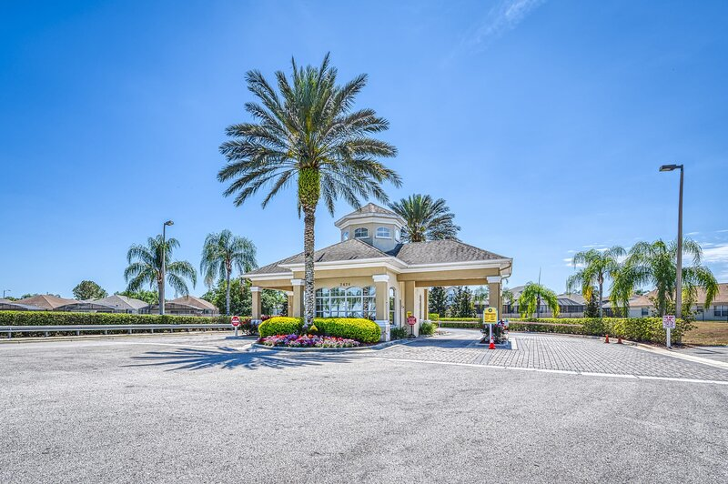 Your gated entrance at the Windsor Palms Resort.