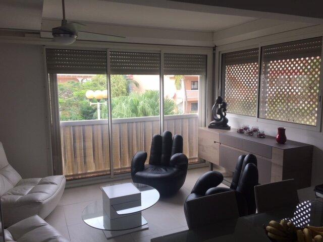 Appart équipé luxe 4 personnes 2 chambres climatisées dans résidence de standing, location de vacances à Baie Nettle