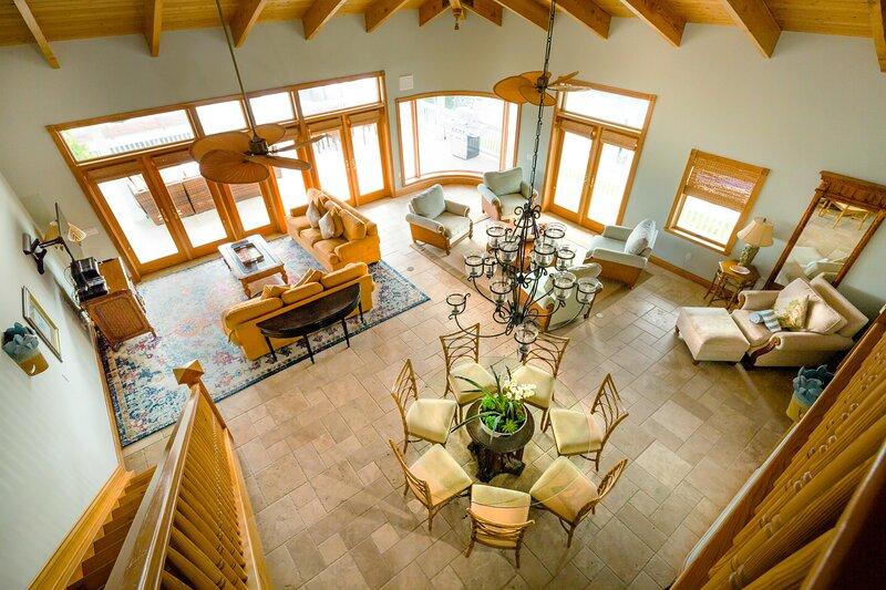 Royal Palm Aerial View Living Room