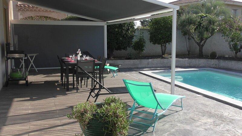 Superb 3 bed modern Villa with pool, Ferienwohnung in Agde