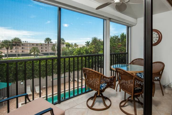 Screened in Lanai with Pool View