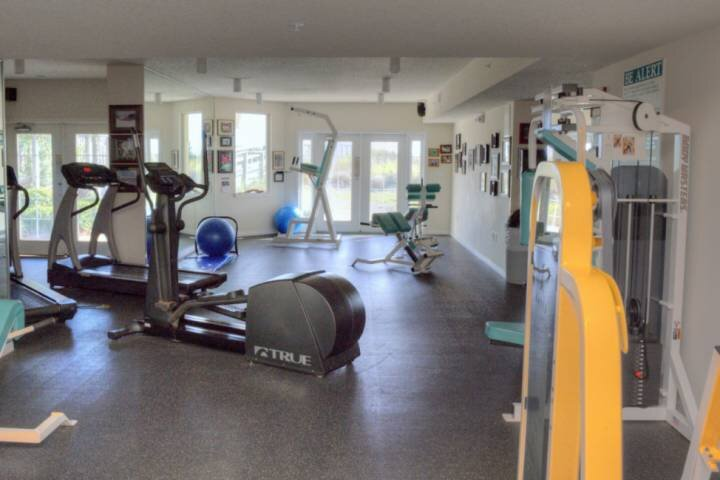 Fitness center with cardio and weight equipment