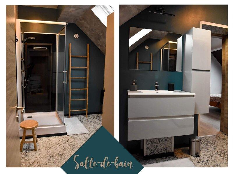 La salle de bain ( les essuis ainsi que les produits gel douche sont compris (H2O)