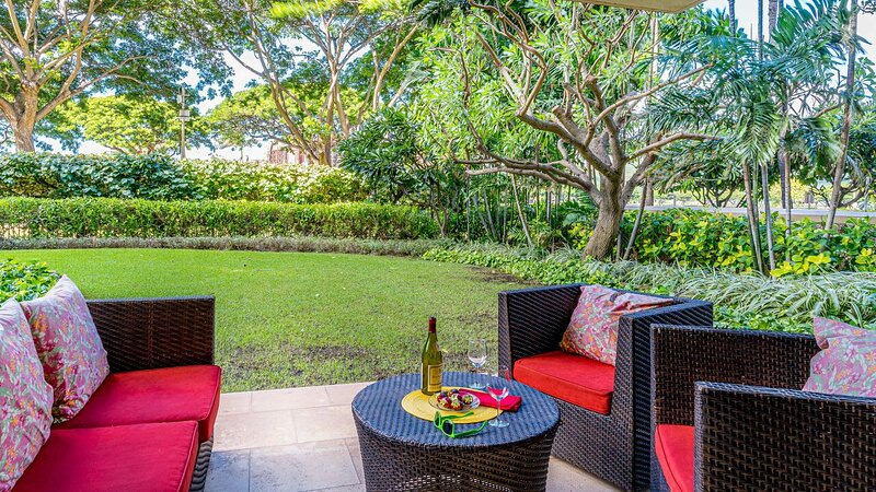 Lanai View of this vacation rental in Ko Olina Oahu.