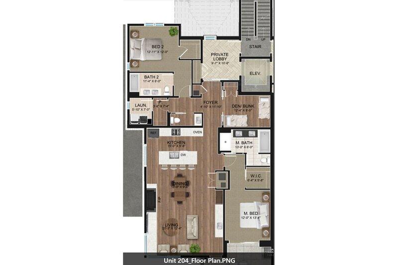 Crystal Bay Retreat 204 - Floorplan
