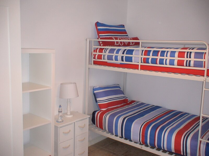 One of two sets of single bunks in 2nd bedroom.For kids and adults