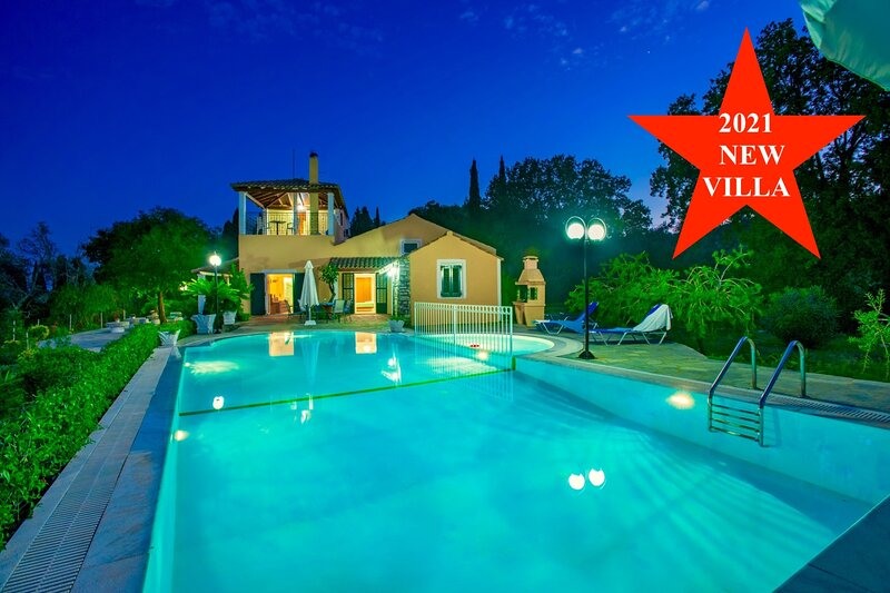 Villa Bouritsa with private pool, holiday rental in Agios Stefanos