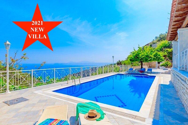 Villa Kaminaki Fantasia with private pool, holiday rental in Nissaki