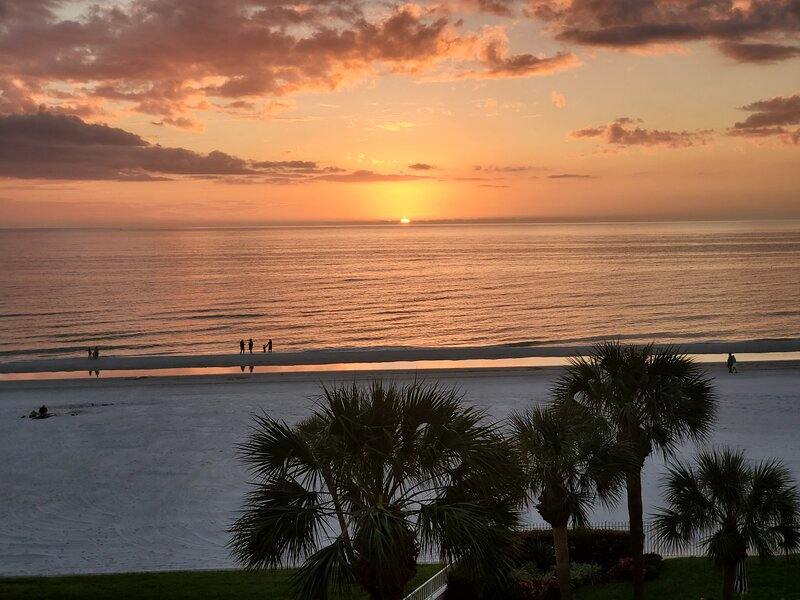 Watch sunsets from the balcony, by the pool or the beach.