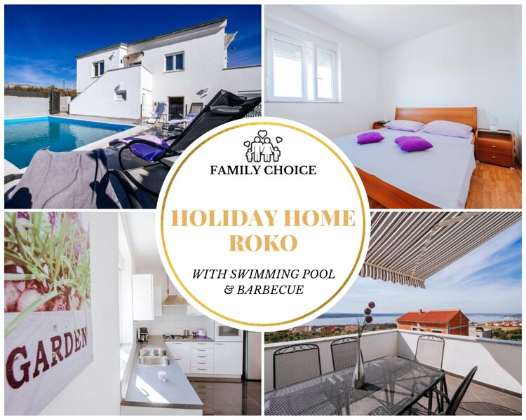 Holiday Home Roko: Swimming pool & SeaView Terrace, vacation rental in Maslenica