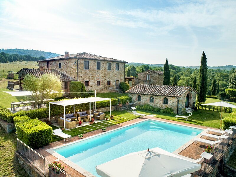 Arezzo Villa Sleeps 20 with Pool - 5835579, casa vacanza a Monastero d'Ombrone
