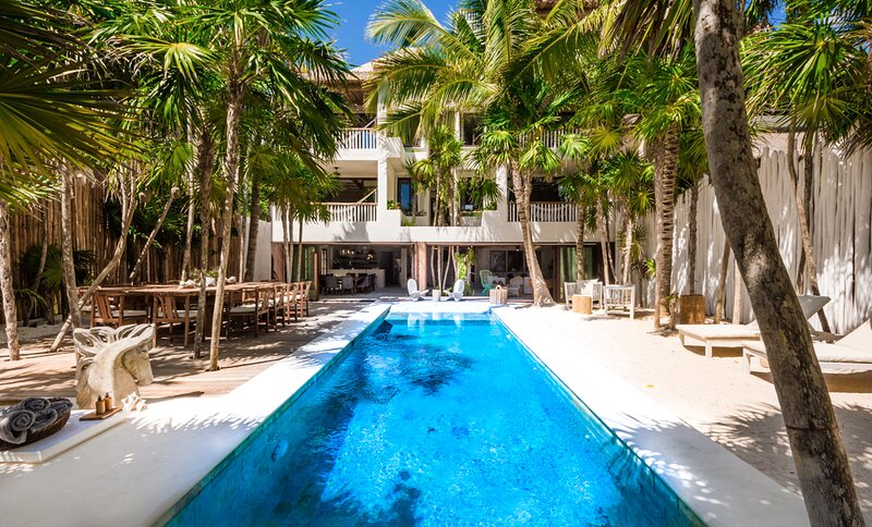 Tankah Cuatro Villa Sleeps 15 with Pool - 5870069, alquiler de vacaciones en Bahía de Soliman