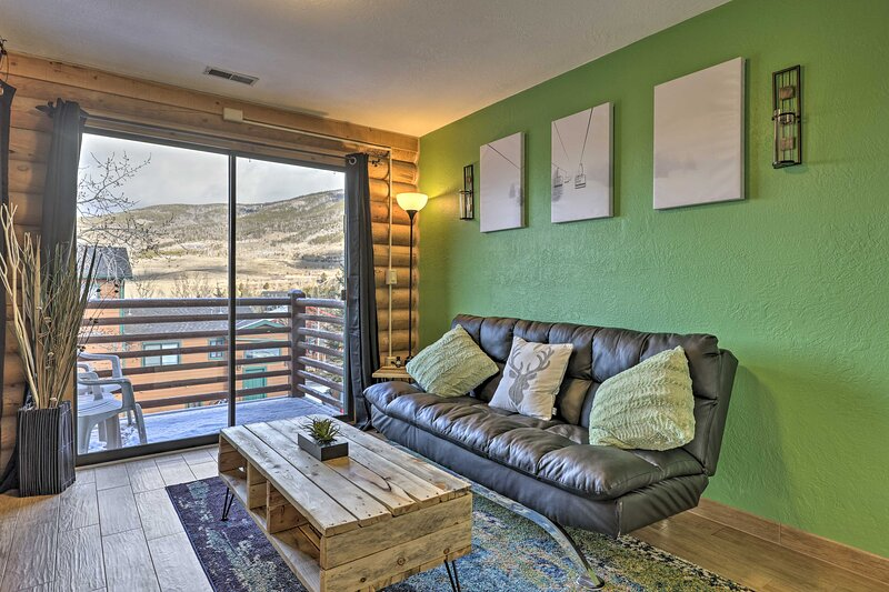 Dillon Vacation Rental | 1BR | 1BA | Stairs to Access