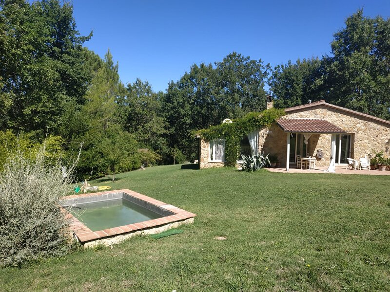 Beautifully restored stone Tuscan cottage with private garden and lovely terrace, sleeps 3, holiday rental in Montescudaio