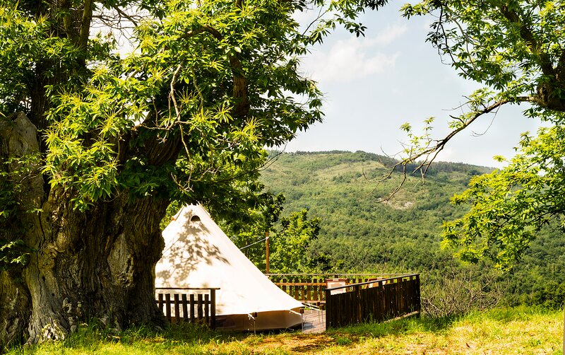 Glamping tent 1, holiday rental in Roccalbegna