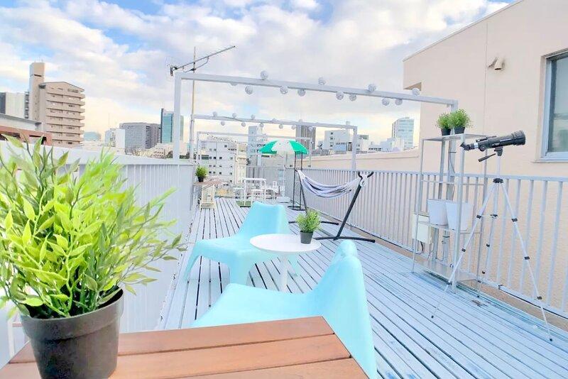 Central Tokyo 3BR Retreat Private Rooftop Terrace 【原宿や表参道まで徒歩圏内】屋上プライベートテラス付き, Ferienwohnung in Präfektur Tokio