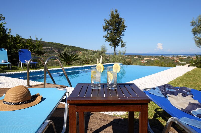 Alea Resort Villas -Luxury villa with private pool and a magnificent view, holiday rental in Lefkada Town