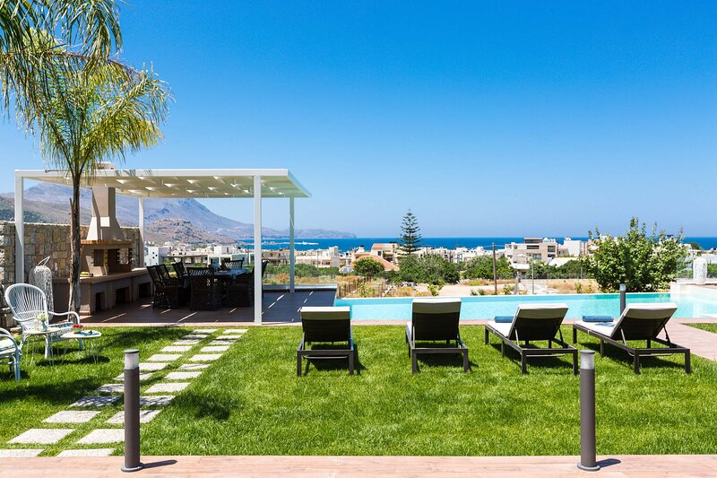 Villa Anemeli I Luxury with private pool & seaview, vacation rental in Kampos