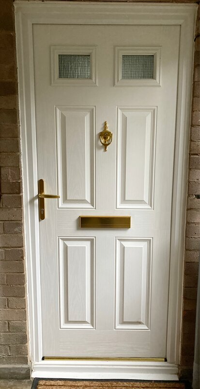 The new entrance door meets the latest fire regulations