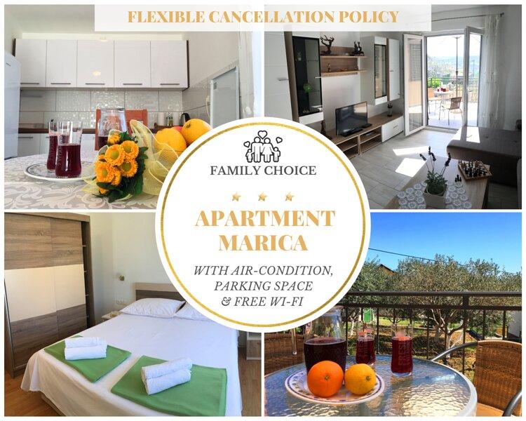 2Bedroom Family Apartment, WiFi, Terrace & Parking, vacation rental in Posedarje