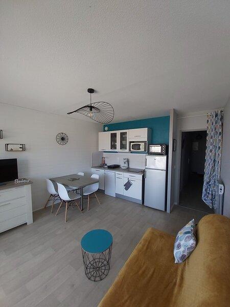 T2 à 30m de la plage avec vue océan (wifi)(ch.vac), holiday rental in Mimizan