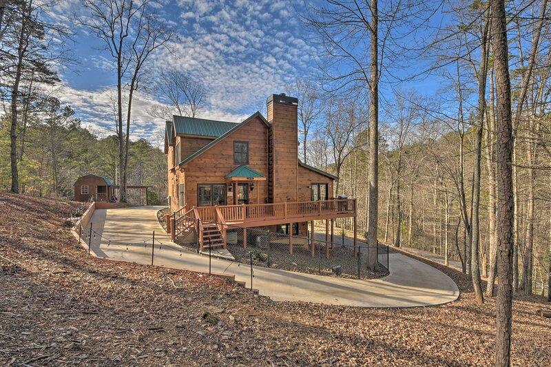 Cabin Exterior | Located in Coosawattee River Resort