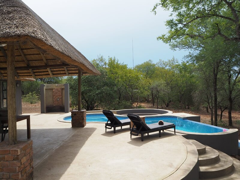 Spectacular terrace at the Pata Pata House, holiday rental in Malelane
