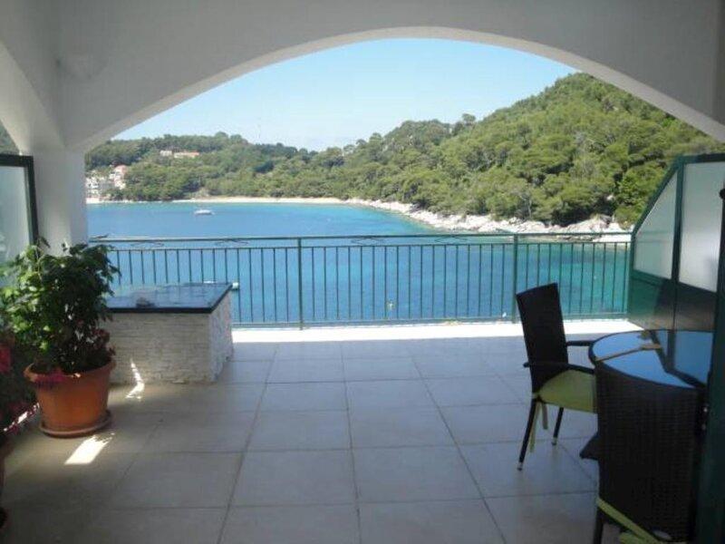 Apartments Posta - Comfort Studio with Balcony and Sea View, holiday rental in Saplunara