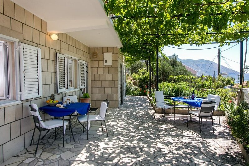 Apartments Olive - Comfort One Bedroom Apartment with Terrace and Sea View, vacation rental in Srebreno