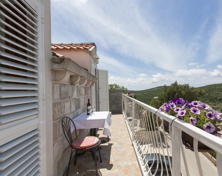 Apartments Micika - Comfort Studio Apartment with Balcony and Sea View (A2), holiday rental in Zvekovica