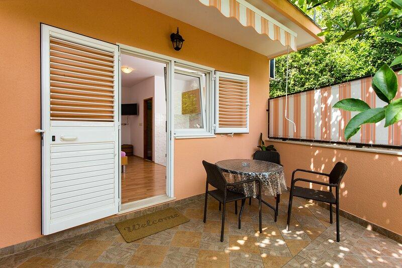 Apartments Bibijana- Superior Studio Apartment with Patio and Sea View, location de vacances à Srebreno