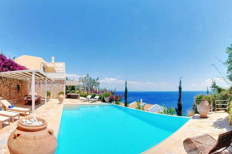 Villa Aspro, location de vacances à Spartilas