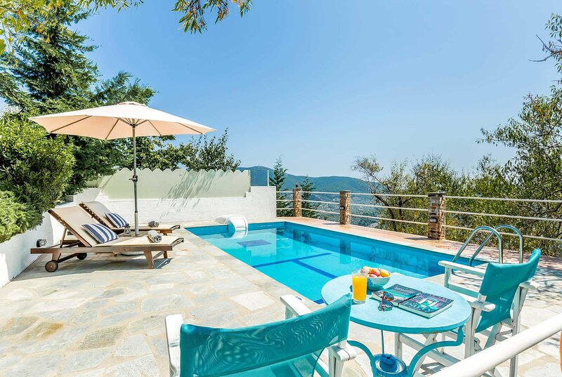 Private villa, light and bright interior, including air con & free Wi-Fi with co, holiday rental in Agnontas