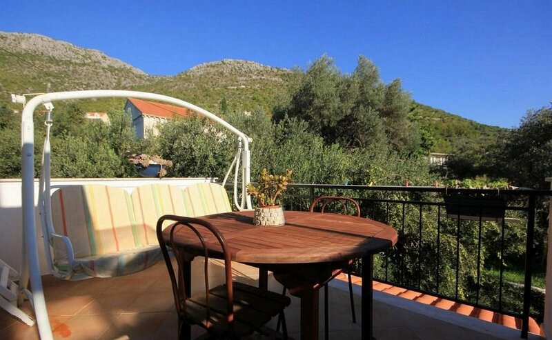 Villa Ro - Ela - Double or Twin Room with Balcony and Sea View - S4, holiday rental in Brsecine